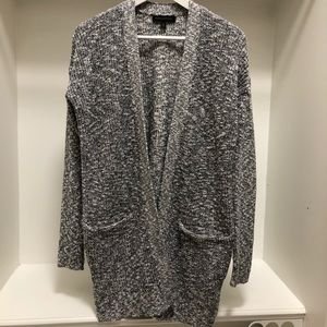 Banana Republic Navy Marled Knit Cotton Cardigan